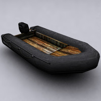 3d unreal tournament 2004 rubber boat model
