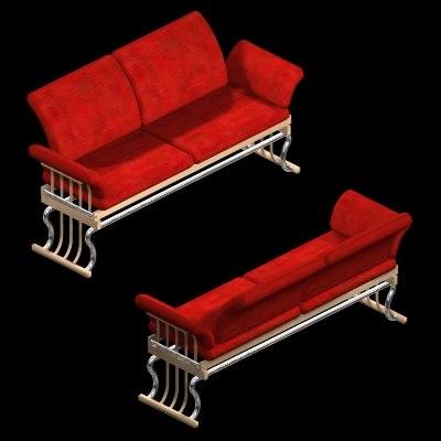 tannon seat loveseat 3d max