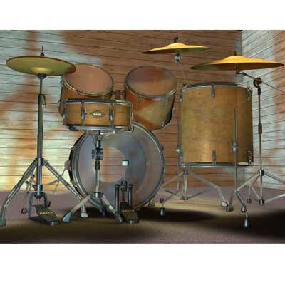 drum kits 3d c4d