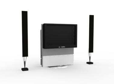 3d home entertainment center model