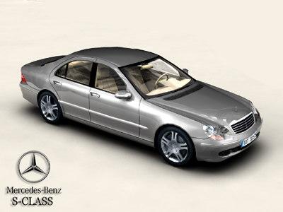 mercedes s class 3d model