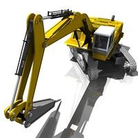 3d model digger industrial