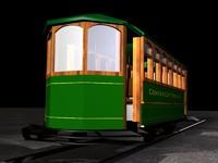 3d model trolley city