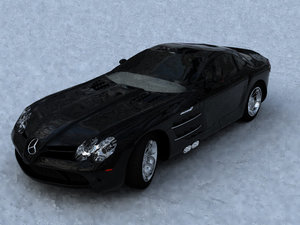 supercar mclaren car 3d model