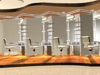 3ds max salon design