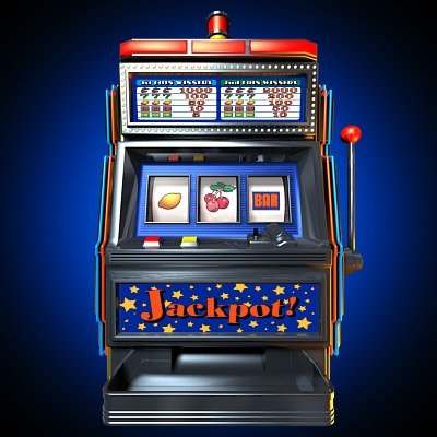 slot machine 3d model
