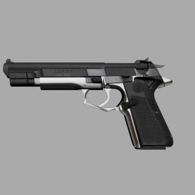 gun beretta desert eagle 3d model