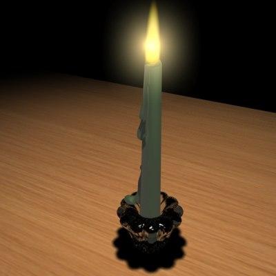 wax candles 3d model
