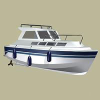 family boat motor 3d model