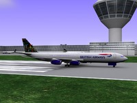 british airways airbus a340-300 3d model