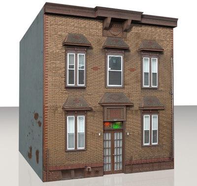 3d building urban model