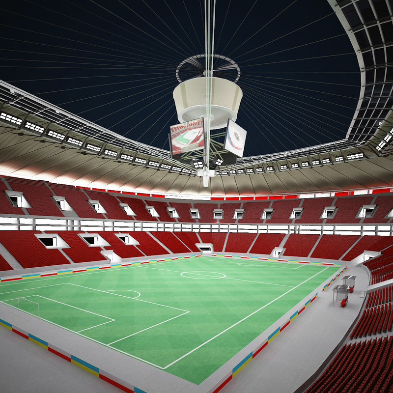 national stadium - night 3d model