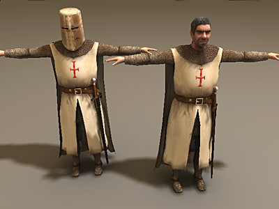 knight character 3d model