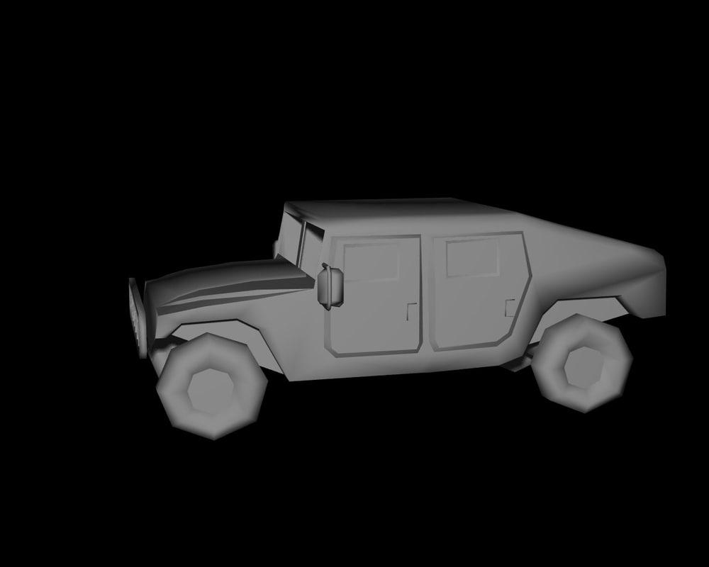 3dsmax trucks hummer