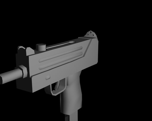 3d ingram gun model