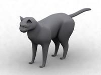 3ds max feline cat