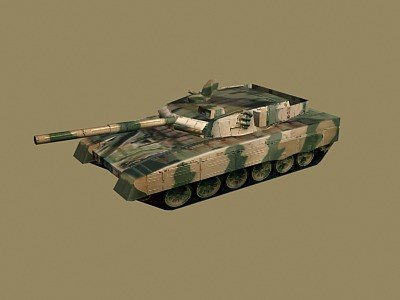 chinese type-98 mbt 3d model
