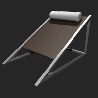 3d model mies armchair wedge
