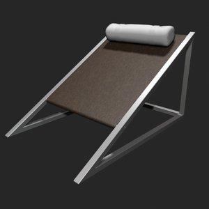 3d model mies armchair wedge