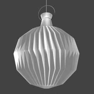 3d kaare klint hanging lamp