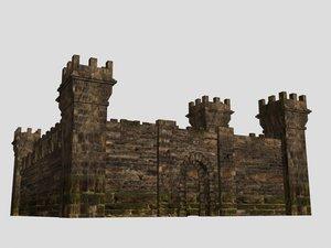 3ds max fort castle