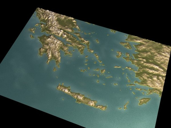 relief greece 3d model