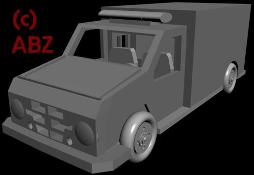 3dsmax ambulance city