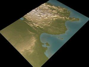 relief tunisia 3d model