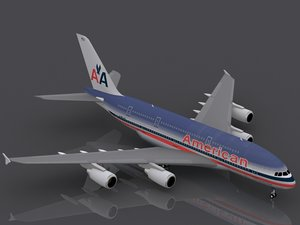 3d airbus a380-800 american airlines