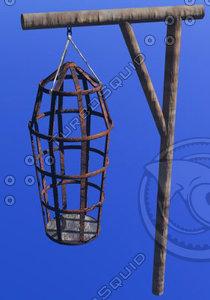 medieval torture cage 3d model