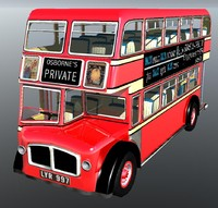19 london bus 3d lwo