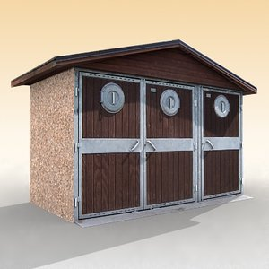 litter house 3d 3ds