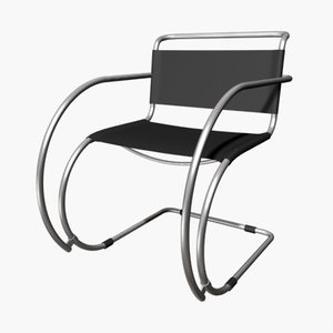 3d model mies van cantilever chair