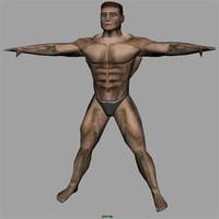 male man 3d 3ds