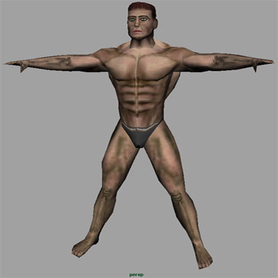 male man 3d 3ds