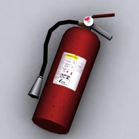 Low Poly Fire Extinguisher