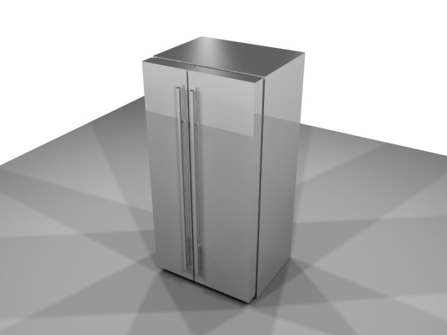 free refrigerator kitchen 3d model