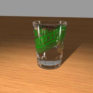 mcgillicuddy shot glass 3d model