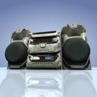 hi-fi sansui stereo 3d model