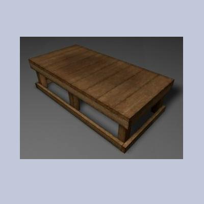 3d wooden storage riser wood grain model