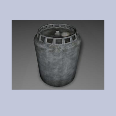 3ds max compressed gas tank