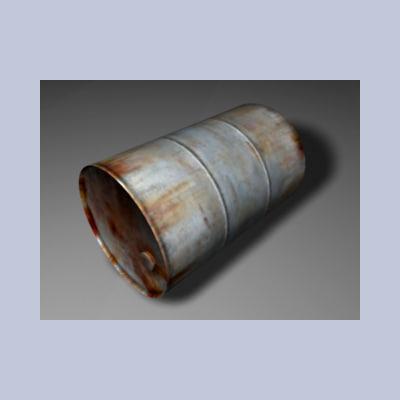 3d model metal barrel