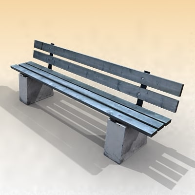 3dsmax bench wooden streets