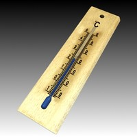 3d mercury thermometer model