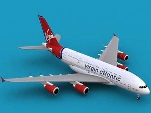 dwg airbus a380-800 virgin atlantic