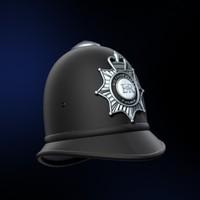 classic police helmet 3d model