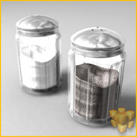 3d salt pepper shaker model