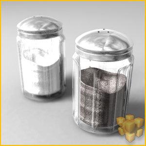 3d salt pepper shaker model