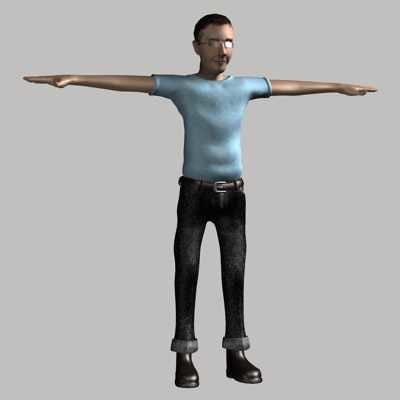 guy real-time biped max