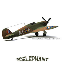 3ds max hawker hurricane mk1 fighter plane